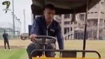 రోడ్ రోలర్ డ్రైవ్ చేసిన మహేంద్ర సింగ్ ధోని [వీడియో]