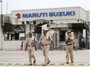 Maruti Reopen Manesar Plant With Huge Police Protection