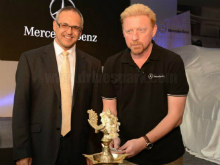 Boris Becker Unveils Mercedes GL-Class In Bangalore