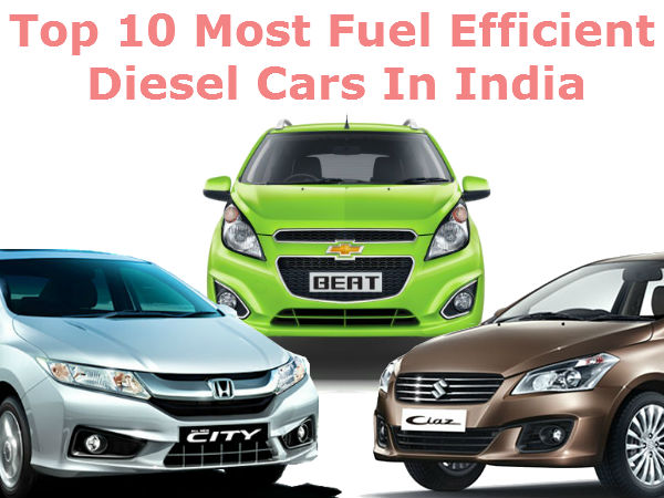 Top 20 fuel efficient diesel cars in india