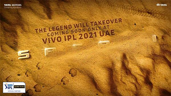 2021 IPL లో కనిపించడానికి సిద్దమవుతున్న Tata Safari Gold Edition; టీజర్