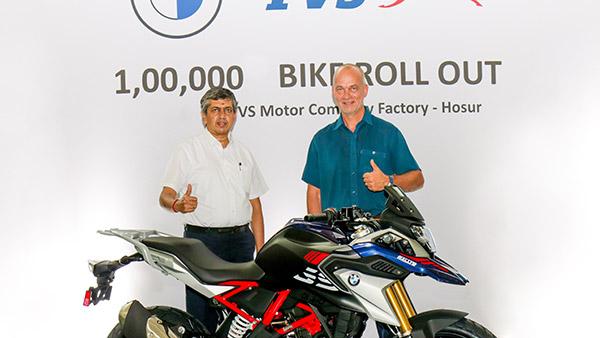లక్ష యూనిట్ BMW 310cc మోటార్సైకిల్ విడుదల చేసిన TVS మోటార్ కంపెనీ