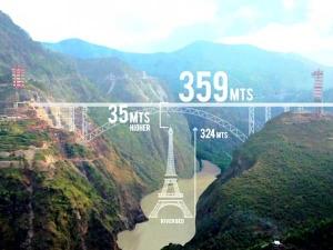 ప్రపంచపు అత్యంత ఎత్తైన రైలు వంతెనను నిర్మిస్తున్న భారత్